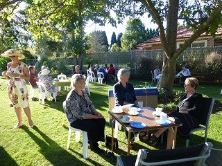 AFGW NSW Members and friends enjoying the April Garden Party