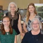 (Clockwise) SH Branch President Trish Cole, 2014 Scholarship Winner Laura Waide, Scholarship Coordinator Dr Robyn Arrowsmith and 2014 Scholarship Winner Rachel Boshier-Westwood